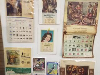 8  1950 s Advertising calendars