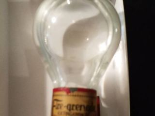 Antique 1920 glass fire extinguisher and antique fire grenade can