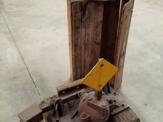Railroad Switch  metal wood box and Anvil
