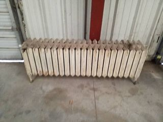 large heating radiator   possible art deco coffee table