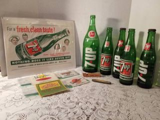 7 up sign  7 up bottles  new soda labels  whistle and knife