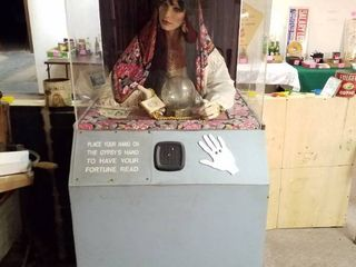 Madam Nazar Fortune Teller  needs slight repair  dusty on the inside