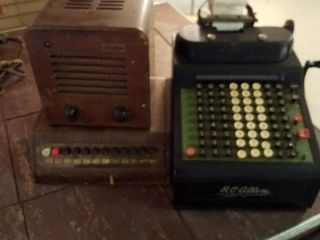Antique Executone Radio  needs new cord    RC Allen Adding Machine