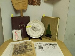 2 1930 s K State yearbooks Wichita fans  plate and more