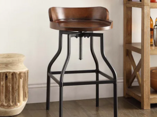 Carbon loft Richard Wood and Metal Bar Stool  Retail 131 99