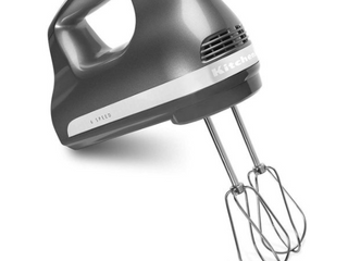 Kitchenaid Ultra Power 6 Speed Hand Mixer Contour Silver Khm614cu   Vvv 195