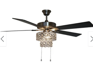 Hardwired   Copper Grove Bailadores 52 in  Beaded Braid lED Ceiling Fan   52 l x 52 W x 21 H   Retail 256 49
