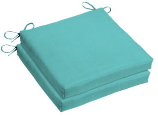 18x 18 Sunbrella Seat Pad   Set of Two   Teal Blue
