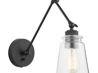Austin Allen   Co 9D345A Profile   One light Wall Sconce Matte Black Finish with Clear Glass