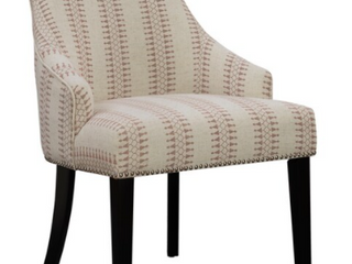 Copper Grove Gagra Cream and Red Geometric Accent Chair