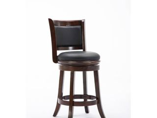 24  Augusta Swivel Counter Height Barstool Hardwood Cappuccino   Boraam