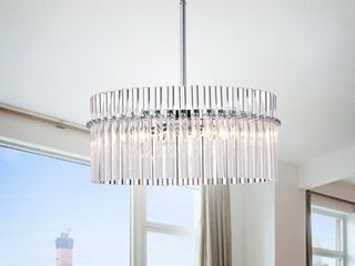 Casandra 4 light Chrome Pendant Crystal Chandelier Retail 197 99