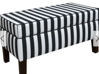 Skyline Furniture Canopy Striped Black   White 5705ESP