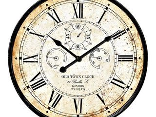 Brown Walplus Vintage Rusty looked Metal Wall Clock 23 Decoration Wall Art  Retail 85 49