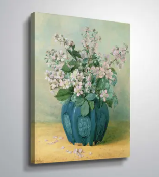 36 x 48   ArtWall Blackberry Blossoms Gallery Wrapped Canvas   Retail 109 99