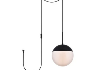 Elian s 1 light Plug in Pendant w Frost