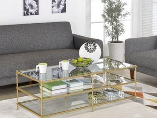 Gold   Simplicity 3 layers Coffee Table   Retail 266 99
