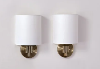 Brass   Carson Carrington Tova 2 piece Indoor Decorative Wall Sconces   Retail 82 99