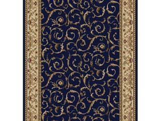 Navy 3 3  x 4 11  Navy 3 3  x 4 11  Admire Home living Amalfi Transitional Scroll Pattern Area Rug