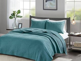 Madison Park Keaton 3 Piece Full Queen Quilted Coverlet Set