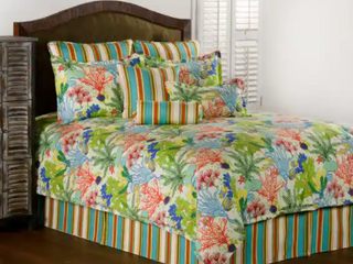 Motif Cotton Nautical   Coastal Dry Clean Red Island breeze tropical daybed set Retail  272 49