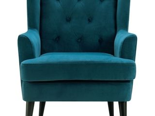 Celeste Tufted Accent Chair Teal Velvet   Adore Decor