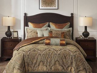 Hampton Hill Canovia Springs 10 piece Multicolor Jacquard Comforter Set Retail 416 99