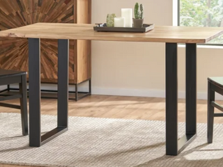 Antonio s Acacia Wood Dining Table Natural   Black