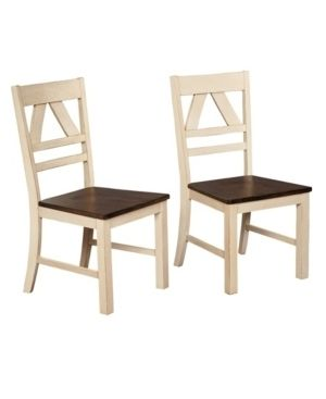 Set Of 2 Vintner Dining Chair Antique White   Buylateral