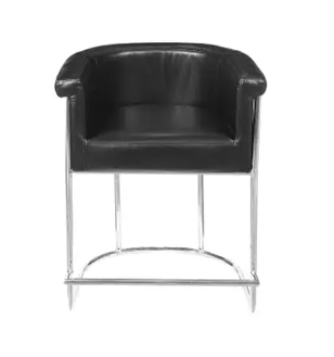 Black Faux leather Barrel Style Counter Stool Retail  187 99