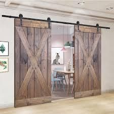 Paneled Wood Painted Double Barn Door DK Series   Set of 2