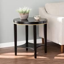 Strick  amp  Bolton lendendale Black Transitional Accent Table with Shelf Retail 116 99  SEE PHOTOS