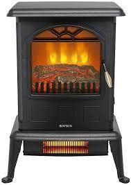 ZOKOP Freestanding 1500W 2 quartz Infrared Portable Fireplace