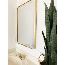 Gold Rounded Corner Mirror   Highland Retail 175 49  SEE PHOTOS