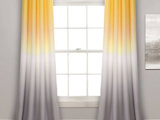 lush Decor Ombre Fiesta Room Darkening Window Curtain Panels   Set of 2