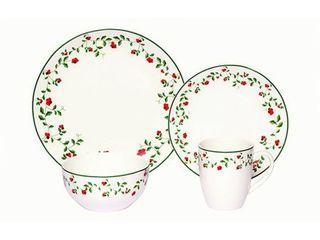 Melange Coupe 16 Piece Porcelain Dinnerware Set