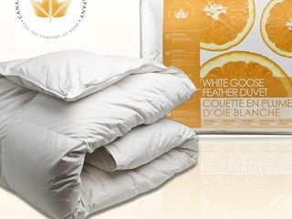 Canadian Down   Feather Company White Goose Feather Comforter   Queen