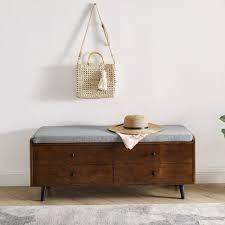 Carson Carrington Upholstered Seat Storage Bench