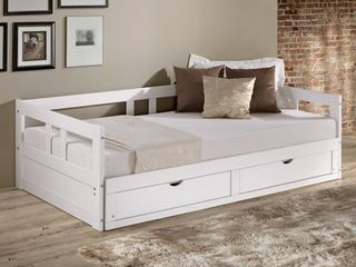 Melody Expandable Twin to King Trundle Daybed with Storage Drawers Retail 476 72
