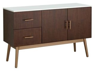 Simple living Stacy Mid Century 2 Drawer Buffet Table