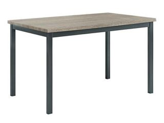 Tom Dining Table  Grey top  base In Black