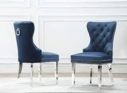 Best Quality Furniture Side Chair Navy Blue