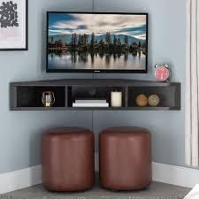 Copper Grove Sukhumi Floating Corner Wall Mounted Media Console