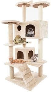 Solid Cute Sisal Rope Plush Cat Climb Tree Cat Tower