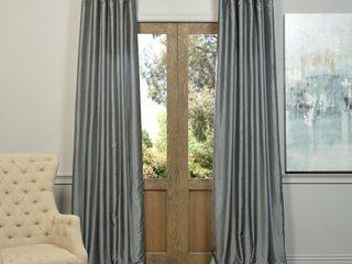 Vintage Dupioni Rod Pocket Curtain Panel