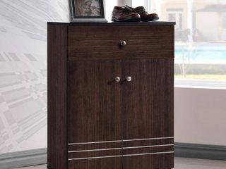 Riker Shoe Cabinet w  Doors   Drawer