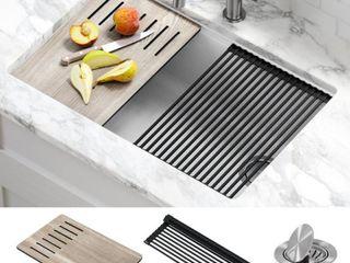 KRAUS Bellucci Granite Composite Single Bowl Undermount Workstation Kitchen Sink w  Accessories