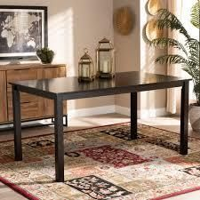 Eveline Modern and Contemporary Espresso Finished Wood Dining Table Retail 287 16