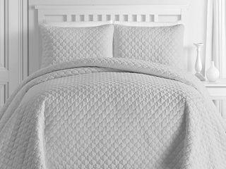 Kotter Home lightweight Ogee Oversized Quilt Coverlet Set   King