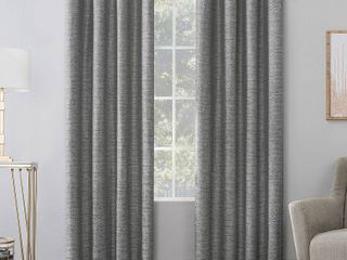 Sinatra Dimensional Textured Total Blackout Grommet Curtain Panel